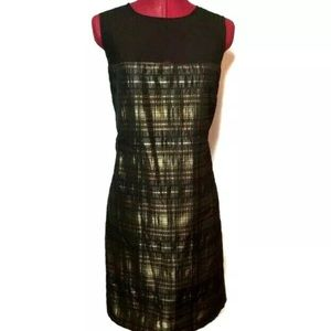 Michael Kors Dress 16 Brown Bronze Sheath